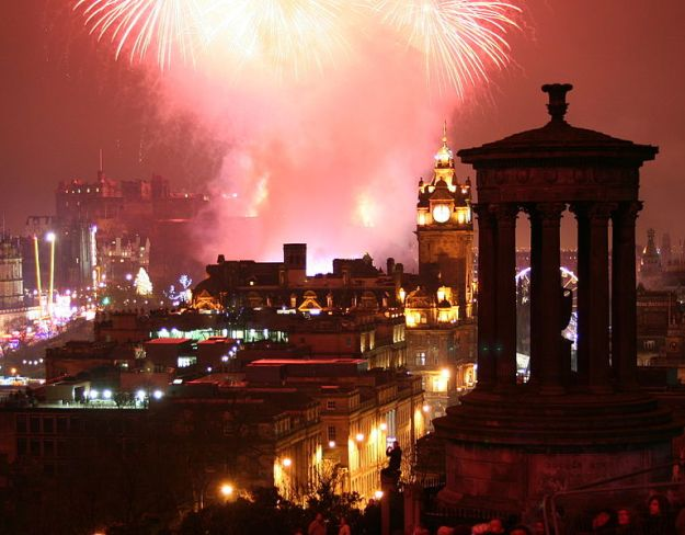 Fireworks over Edinburgh. Photo by Robbie Shade.