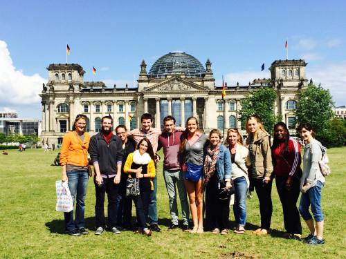 IU South Bend students at the Berlin