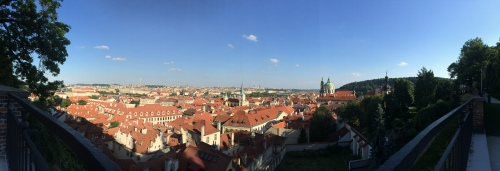 Panoramic photo of Prague from the Pražský hrad 'Prague Castle' gardens