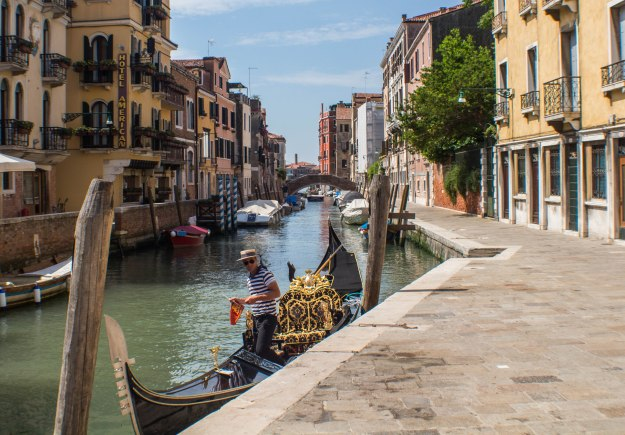 A Gondolier. Photograph by Ryan Shields