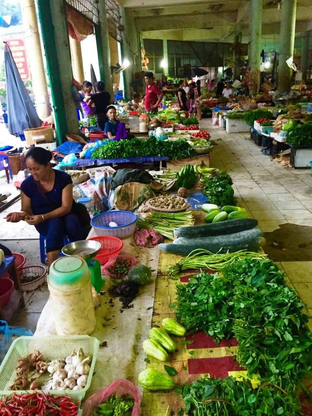 Market at Hoang Su Phi